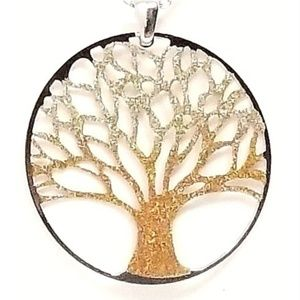 sterling silver pendant stardust tree of life